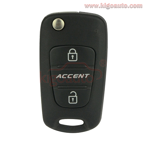 Flip remote key 3 button 434Mhz for Hyundai Accent