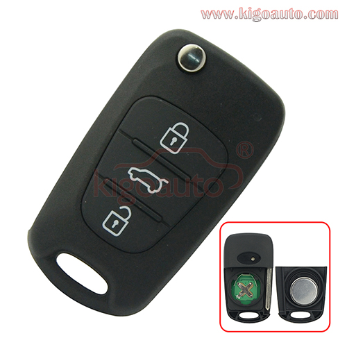 HA-T005 CE0678 Flip remote key 3 button 434Mhz for Hyundai i20 i30 Kia K5 K2