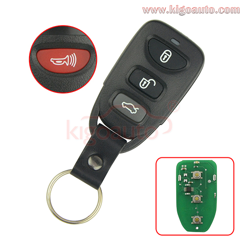 PN 95430-3K200 FCC OSLOKA-310T Remote fob 3 button with panic 315Mhz for Hyundai Sonata Elantra 2005-2010