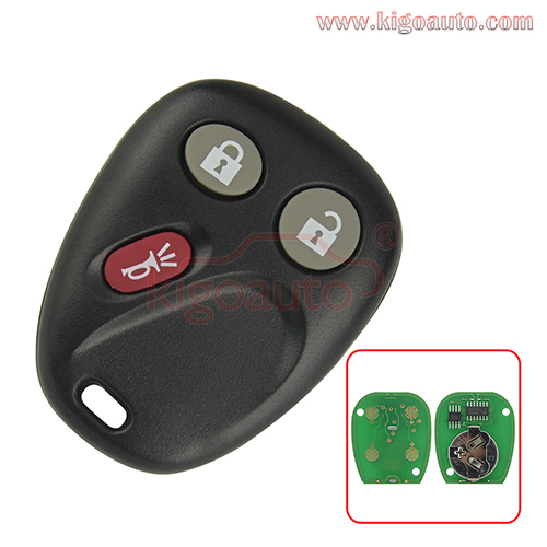 21997127 LHJ011 remote fob 3 button 315Mhz ASK for GM Chevrolet Cadillac GMC Hummer Pontiac Saturn 2003-2006