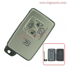 Smart key case 5 button for Toyota Yaris Previa