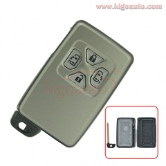 Smart key case 4 button for Toyota Yaris Previa