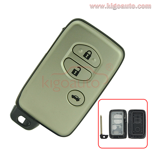 Smart key shell 3 button for Toyota  4Runner Camry 2010