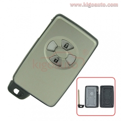 Smart key case 2 button for Toyota Auris PRIUS RAV4 VERSO