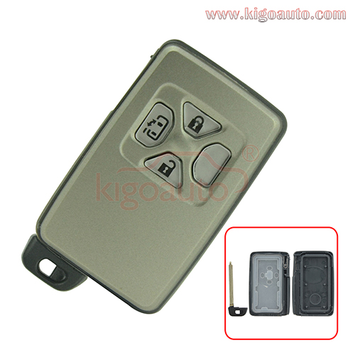 Smart key case 3 button for Toyota Yaris Previa