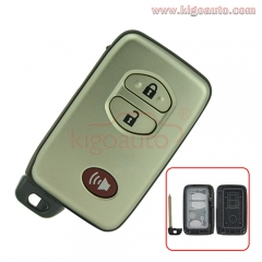 Smart key shell 2 button with panic for Toyota Venza 2010