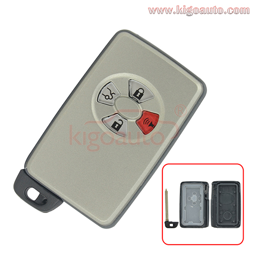 89904-07030 Smart key case 4 button HYQ14AAF for Toyota Avalon 2005 2006 2007