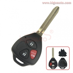 Remote key shell 3 button TOY43 for Toyota RAV4