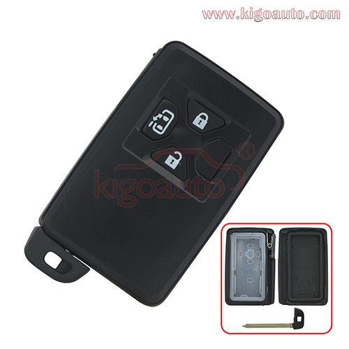 Smart key case 3 button for Toyota