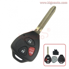 HYQ12BDC HYQ12BBY Yaris Camry RAV4 Remote key 3 button toy43 blade 314.4Mhz for Toyota 89070-42670 89070-35170