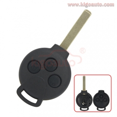 267T-5WK45144 Remote key shell 3 button for Mercedes Benz Smart Fortwo Forfour City Roadster 2006-2014