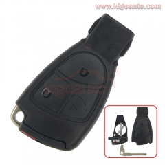 Smart key shell case with battery holder 3 button for Mercedes benz C Class E Class CLS CLK ML B CLass SLK CL S Class 2001 - 2010