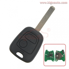 Remote key 2 Button VA2 blade ID46-PCF7961 chip 434MHz for Peugeot 107 207 307 407 807 Citroen Saxo Xsara Berlingo Xsara Picasso