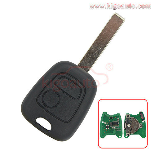 Remote key 2 Button HU83 Blade ID46-PCF7961 chip 434MHz for Peugeot 107 207 307 407 807 Citroen Saxo Xsara Berlingo Xsara Picasso