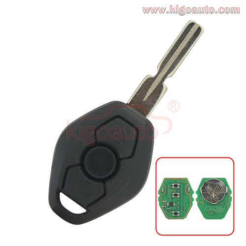 Remote key HU58 blade EWS system 315mhz 434mhz 3 button PCF7935(ID44) chip for BMW 3 5 6 7 Series Z3 X3 X5 Z8 Z4 2001-2008