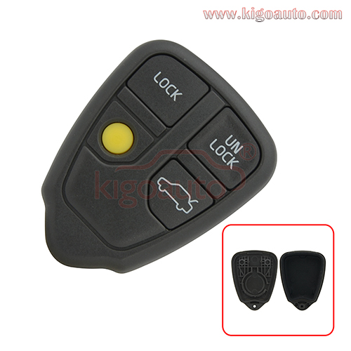 Remote key fob case shell 4 button for Volvo S40, S60, S80,V40, V70, XC90