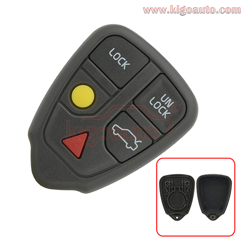 Remote fob case 5 button for Volvo V70 S90 S60 S70 S80 2001 2002 2003