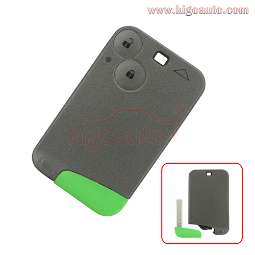 Smart key card 2 button 433Mhz ID46-PCF7947 for Renault Laguna Espace Vel-Satis 2001 2002 2003 2004 2005 2006
