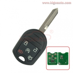 CWTWB1U793 Remote key 4 button+panic 315Mhz with 4D63 80 BIT chip for Ford