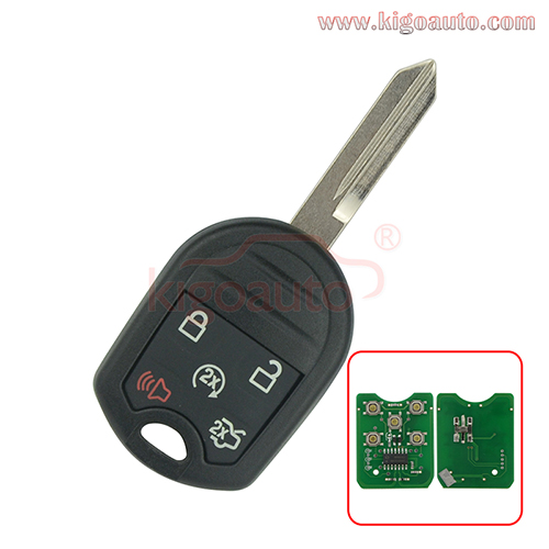 FCC CWTWB1U793 Remote key 4 button+panic 315Mhz 434Mhz with 4D63 80 BIT chip for Ford Expedition Explorer 2012-2014 PN 164-R8000