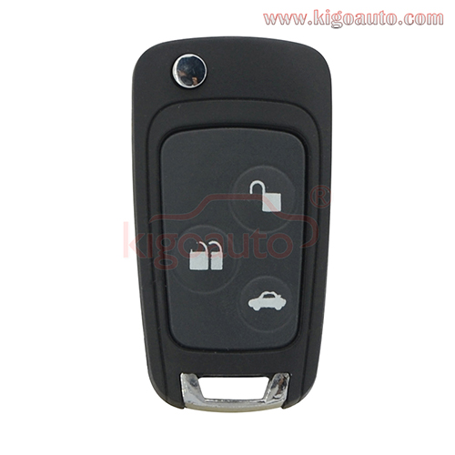 Refit Flip key shell 3 button FO21 for Ford