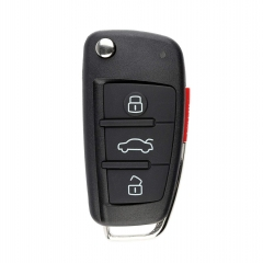 IYZ3314 / 4F0 837 220 G flip key 3 button with panic 315Mhz for Audi A3 A4 A6 Quattro Q7 2005-2010
