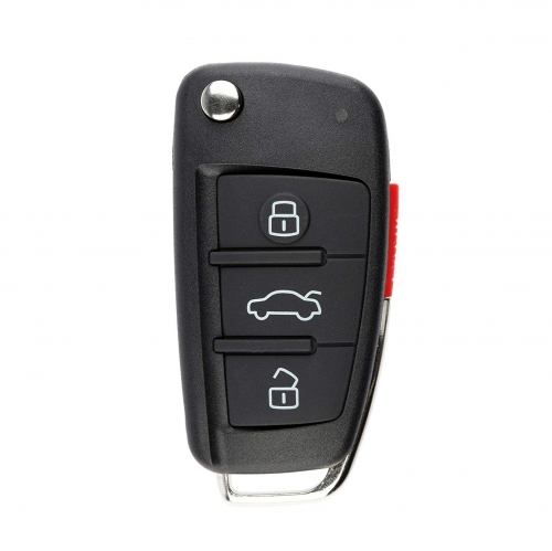 FCC IYZ3314 flip remote key 3 button with panic 315Mhz for Audi A3 A4 A6 Quattro Q7 2005-2010 PN 4F0 837 220 G
