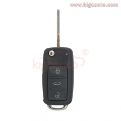 Flip key shell 3 button for Audi A6