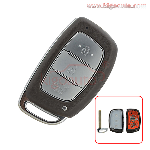 Smart car key 3 button 433Mhz ID46-PCF7953 for Hyundai IX35