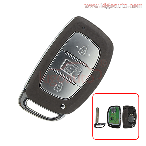 Smart car key 3 button 433Mhz ID47-PCF7938 chip for Hyundai Mistra
