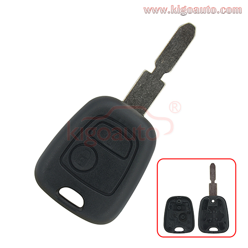 Remote key shell 2 button NE78 blade for Peugeot 406