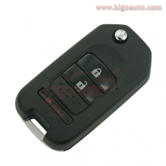 Refit remote key shell 2 button with panic for Honda