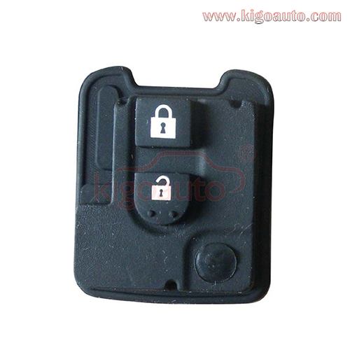 Remote rubber button pad for Nissan remote key 2 button