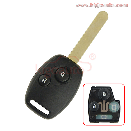 FCC OUCG8D-380H-A Remote key 2 button 434Mhz for Honda Accord