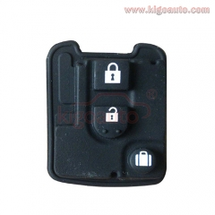 Remote rubber button pad for Nissan remote key 3 button