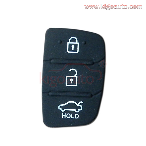 Remote button pad for Kia Hyundai remote key 3 button