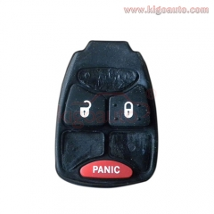 Rubber button pad for Chrysler Dodge Jeep remote key 2 button with panic