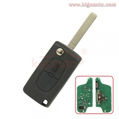 CE0523 Flip remote key 2 button VA2 blade 434Mhz ID46-PCF7941 chip ASK for Peugeot 207 307 407 807 Citroen C2 C3 C4 C5 C8