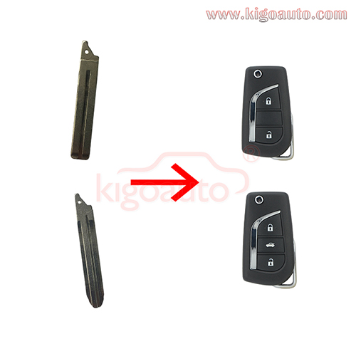 Replacement Flip Floding Remote Key Blade Car key Blank For Toyota Corolla 2012-2017