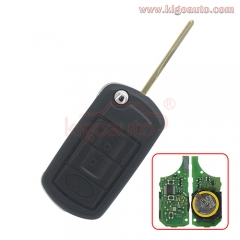 YWX500160 Flip key 3button HU92 key blade with ID46 chip for Landrover LR3 Rangerover