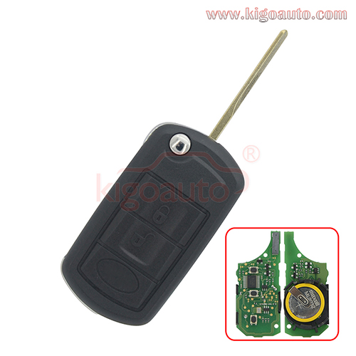 P/N YWX500160 Flip key 3button HU92 key blade with ID46 chip for Landrover LR3 Rangerover 2006 2007 2008 2009 2010
