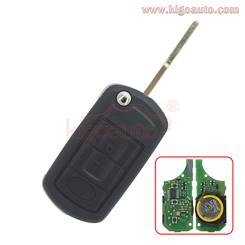 Flip key  3 button HU101 ID46 for Landrover LR3 Range Rover Sport 2006 2007 2008 2009