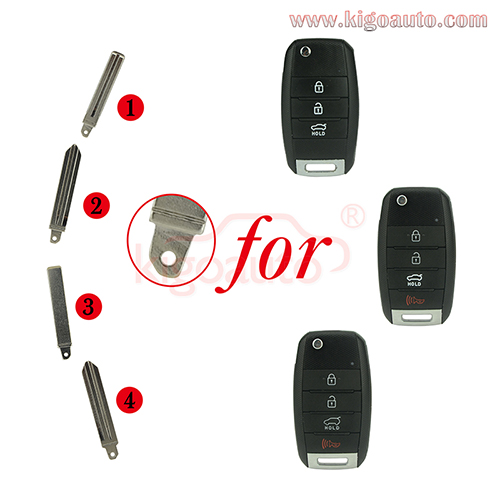 81996-A4000 81996-A7000 Flip key blade for Kia Optima Sorento Forte Soul 2013 2014