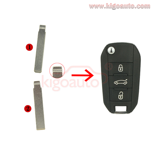 Flip key blade HU83 for Peugeot 508 and VA2 for Citroen C4