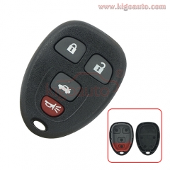 (No battery holder) KOBGT04A Remote fob case 4 button for GM Pontiac G5 G6 Saturn Aura Sky