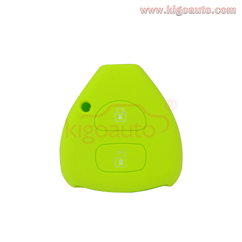 Silicone key Case shell 2 button for Toyota Camry