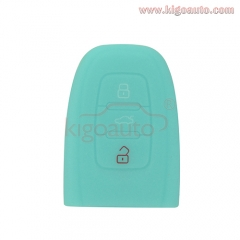 Silicone key Case shell 3 button for Audi A4 A5 S5 A6 Q5 Rubber Key Fob Cover Case