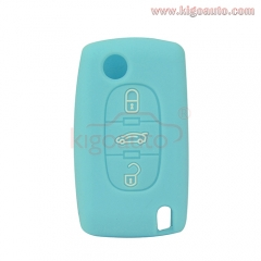 Silicone key Case shell 3 button for Citroen C2 C3 C4 C5