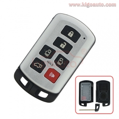 89904-08010 HYQ14ADR smart key case 6 button for Toyota Sienna 2011-2017