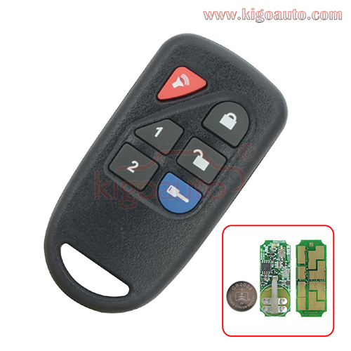 FCC ID GOH-PCGEN2 OEM original Remote control 6 button 434Mhz for Ford Edge Expedition Explorer 2007-2012 key fob PN 7L3J-15K601-AA
